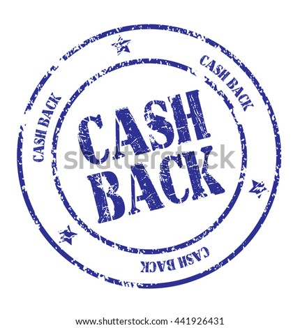 "Circle grunge stamp ""cash back"" on a white background"