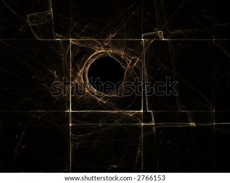 Circle in a square - stock photo