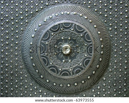 circle iron texture - stock photo