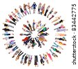 Circle Isolated Diversity - stock photo