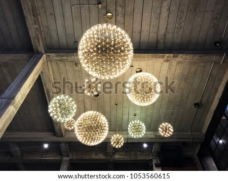 Chandelier wallpaper imgenes pagas y sin cargo y vectores en stock circle light bulbs chandelier luxury decoration in loft interior design of hall building architecture design aloadofball Gallery