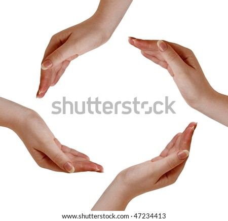 Circle made of human hands
