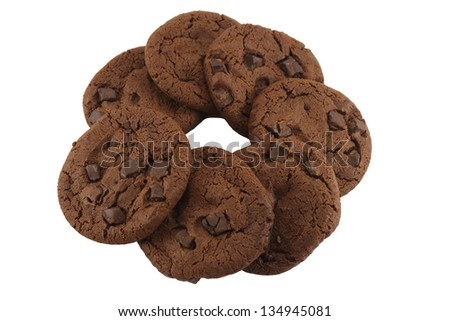 Circle of cookie - stock photo