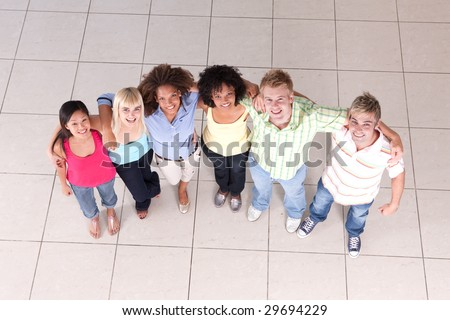 circle of friends - stock photo