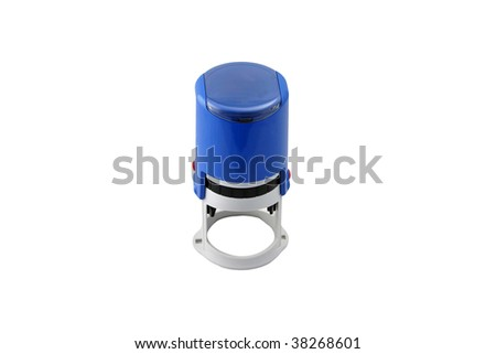 Circle office stamp isolated on white background. - stock photo