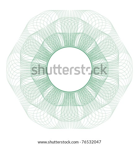 Circle pattern for currency, certificate or diplomas. Raster version id.61361947 - stock photo