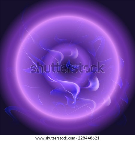Circle Purple Abstract blue smooth waves design