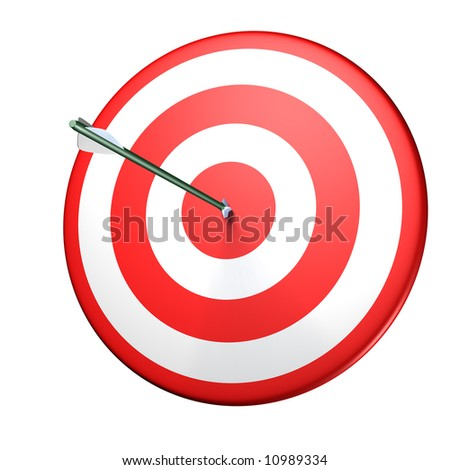 circle red target with arrow