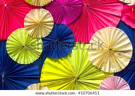 circle shape of colorful papers for Background texture. Colorful paper background.