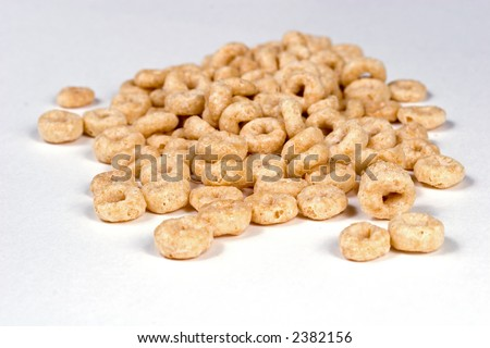 Circle shaped breakfast cereal - stock photo
