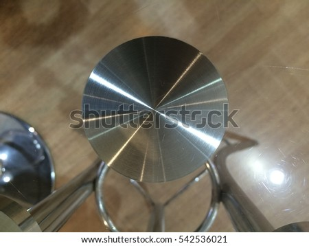 Circle stainless steel under mirror table