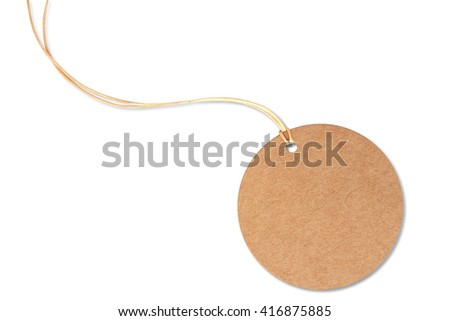Circle tag price isolated on a white background,This has a clipping path. - stock photo