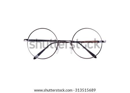 Circle vintage glasses - stock photo