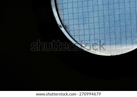 Circle window - stock photo