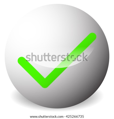 Circle with tick, check mark symbol. Approve, correct, accept, right, validation icon. - stock photo