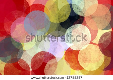 Circles abstract illustration. Brush paint impressionist background pattern.