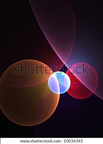 circles background - stock photo
