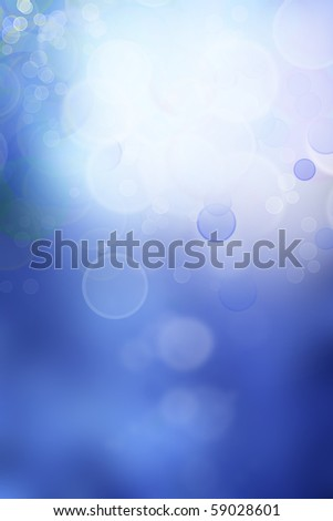 Circles on blue abstract background - stock photo