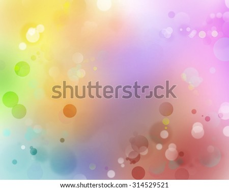 Circles on colorful abstract background. Advertising copy space - stock photo