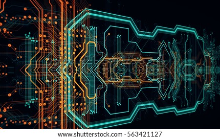 Circuit Board Background Can Be Used As Digital Dynamic Wallpaper Technology 3D