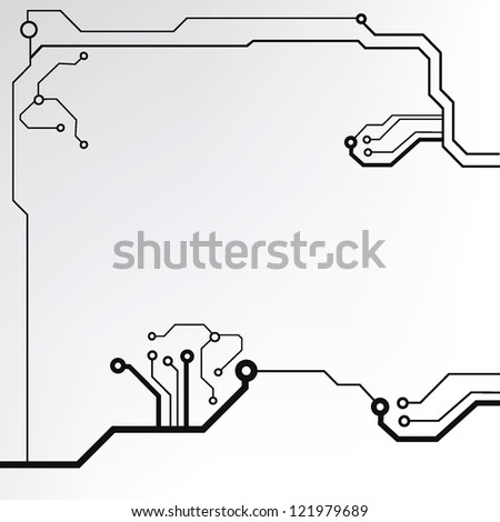 circuit board background texture. jpg version - stock photo