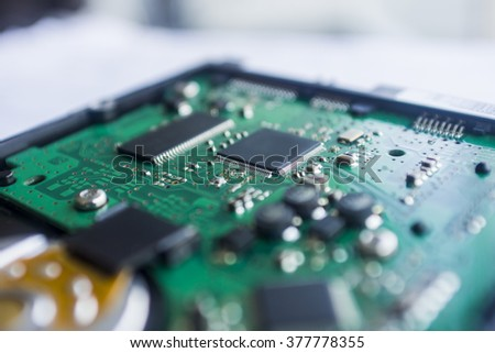 Circuit Board change the colors as you like - stock photo