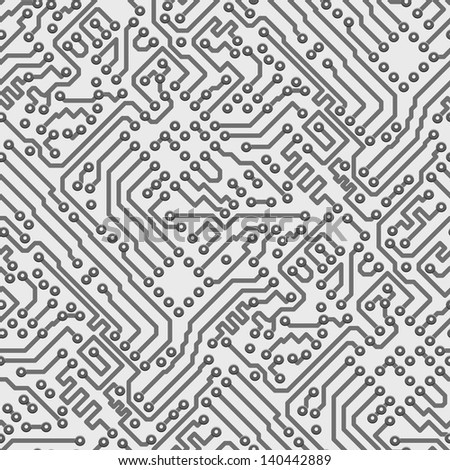 Circuit board computer seamless background - electronic pattern