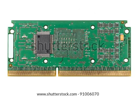 Circuit board, CPU card - stock photo