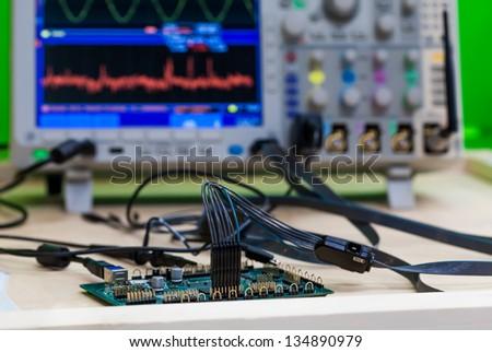 Circuit board diagnostic and repair - stock photo