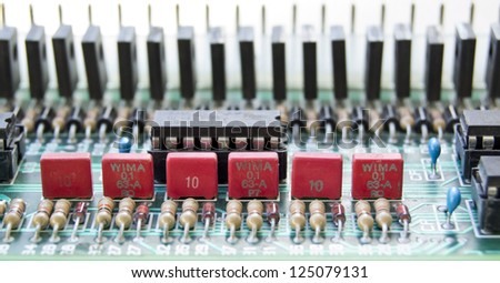 Circuit Board electronic components - stock photo