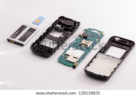 Circuit board (keypad) for cell phone - stock photo