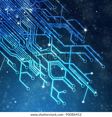 circuit board ,technology background - stock photo