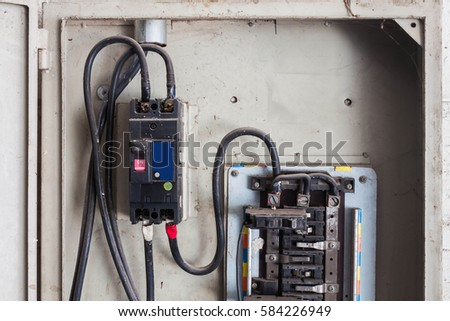 Circuit Breaker Old High Voltage Cabinet Stock Photo 581880178 ...