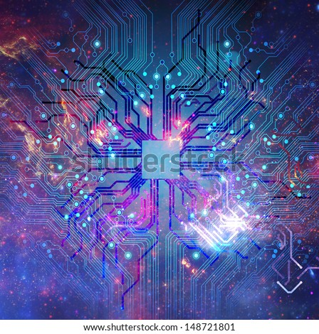 circuits background - stock photo