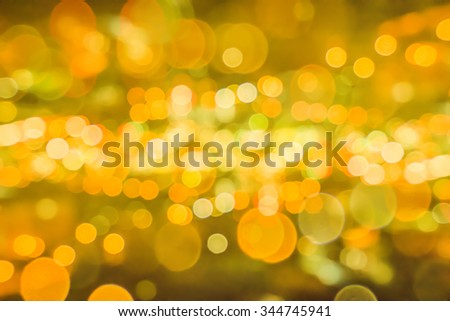 Circular abstract bokeh background light of Christmas.
