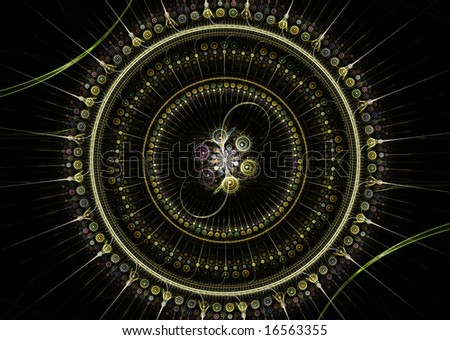 Circular Abstract Fractal Image/Background