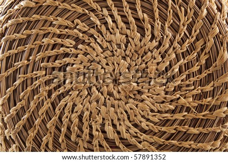 Circular basketry handmade - stock photo