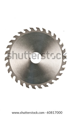 Circular blade isolated on white