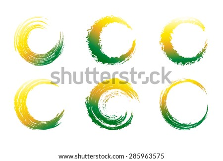 Circular Brush Stroke - Raster Version - stock photo