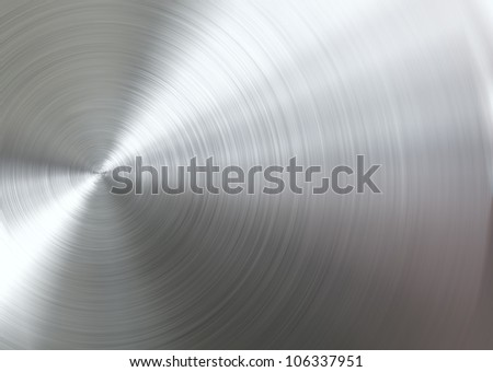 Circular brushed metal - stock photo
