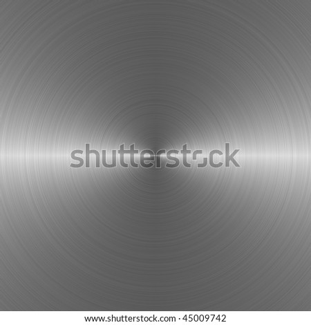 Circular brushed metal -- computer generated - stock photo