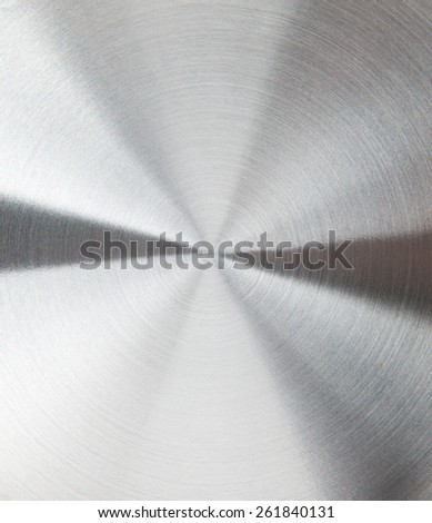 Circular brushed metal texture - stock photo