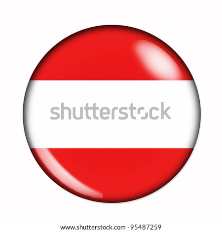 Circular,  buttonised flag of Austria