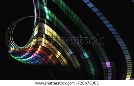 Circular colorful abstract pattern. Beautiful background for art projects, business, template, banners, card