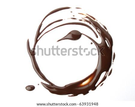 Circular design of chocolate - stock photo