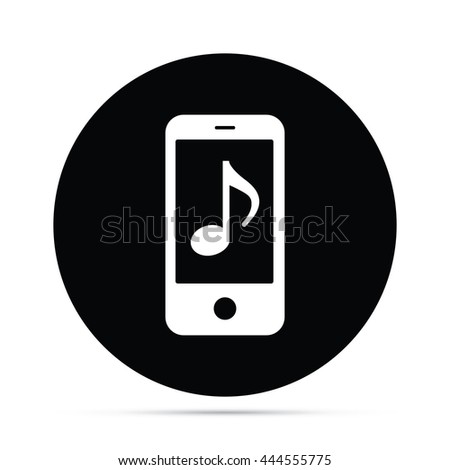 Circular Digital Music Icon.  Raster Version - stock photo