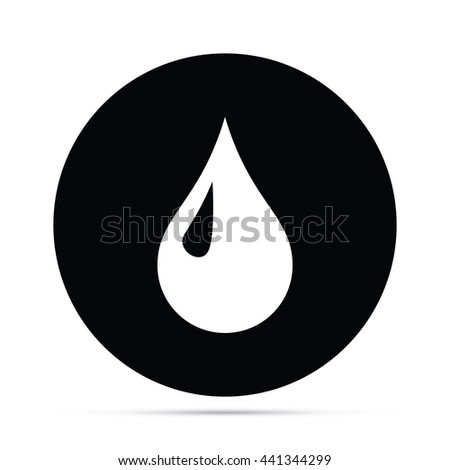 Circular Droplet Icon.  Raster Version - stock photo