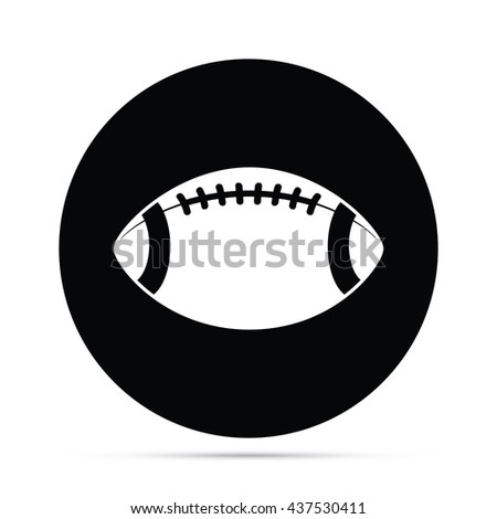 Circular Football Icon.  Raster Version - stock photo