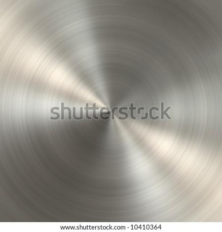 Circular metal brushed texture - stock photo