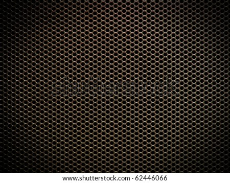 Circular metal grill - stock photo